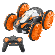 TAAIW C10 2.4G Waterproof RC Car Amphibious Double-Sided Stunt Vehicle - Orange