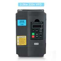 AC 220V Frequency Converter 1.5KW/2.2KW Variable Frequency Drive Converter VFD Speed Controller Converter
