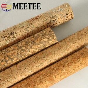 Image 4 - Meetee 200X137cm 0.5mm עבה טבעי פקק עור בד DIY שקיות נעלי מזוודות בעבודת יד מלאכת עץ תבואה דקור אספקת חומר