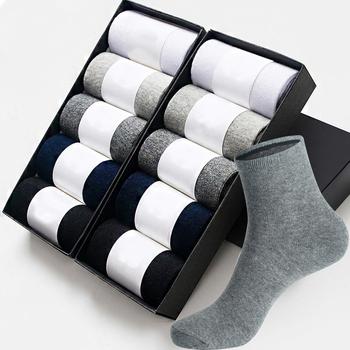 10 par męskich skarpet bawełnianych w nowym stylu czarne męskie skarpety biznesowe miękkie oddychające letnie zimowe męskie skarpety tanie i dobre opinie CN (pochodzenie) STANDARD Na co dzień COTTON POLIESTER spandex S-150 Załoga Rajstopy