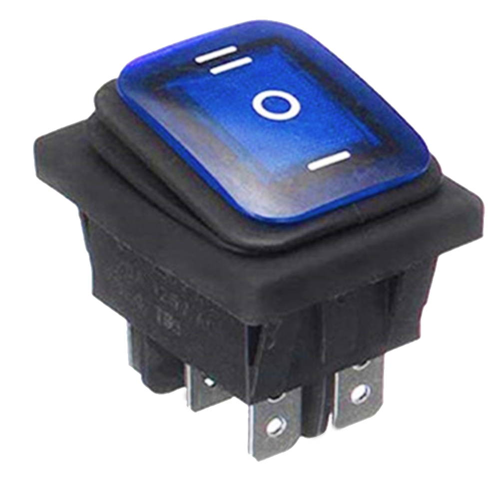 Marine Hardware Automobiles Car Plastic 3 Position Rocker Switch Parts Accessories Waterproof 6 Pins Boat Toggle With LED Light