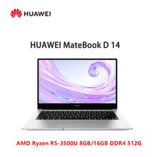 Huawei MateBook D 14 Laptop AMD Ryzen r5-3500U 8GB/16GB DDR4 512GB SSD Radeon Vega 8 windows 10(China)