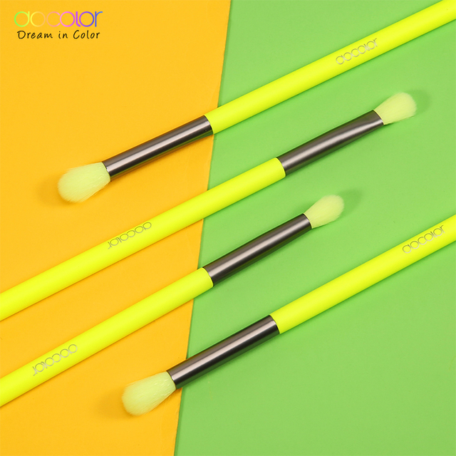 Docolor Makeup Brushes Set 4pcs Eye Shadow Blending Eyeliner Eyelash Eyebrow Make up Brushes Professional Eyeshadow Neon Brush 1