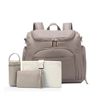 PU Leather Diaper torba dla mamy plecak torba dla mamy torba termoizolacyjna podróżna torba do przewijania macierzyństwa wózek dziecięcy tanie i dobre opinie CN (pochodzenie) zipper MATERNITY (30 cm Max Długość 50 cm) torby na pieluchy Stałe 10cm Baby carrier bag 43cm