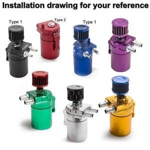 Image 3 - Depósito Universal de aluminio para tanque de aceite + filtro de respiración Color: negro, rojo, azul, dorado, PLATA VERDE, Morado, EP JYH08