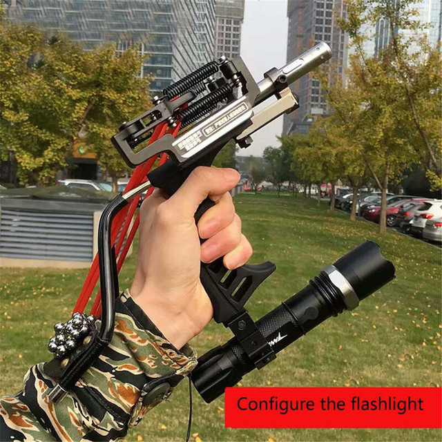 Stainless Steel Hunting Slingshot Powerful red laser Catapult with Rubber Band Outdoor Shooting Sport Accessories 1
