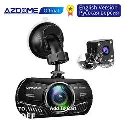 AZDOME M11 Mini Dash Cam 3 calowy ekran 2.5D IPS Full HD1080P Samochodowy rejestrator samochodowy Rejestrator samochodowy Night Vision kamera samochodowa dashcam Kamery samochodowe    -