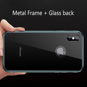 Image 5 - Ultra cienki 9H szkło hartowane etui na iPhone 7 8 Plus XS obudowa metalowa rama Anti knock pokrywa dla iPhone X XR XS Max 7 8 Plus Coque