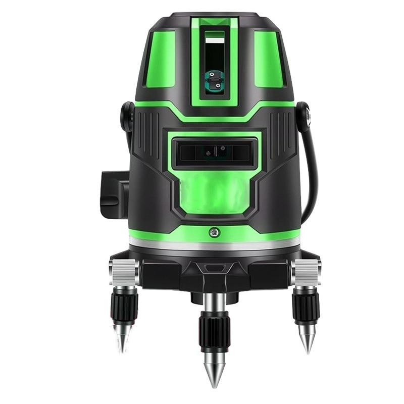 360 Вращающийся лазерный инструмент 2/3/5 линий поперечный лазерный уровень зеленый самонивелирующийся радиус переменный прямой Горизонтальный Вертикальный Лазерные уровни      АлиЭкспресс