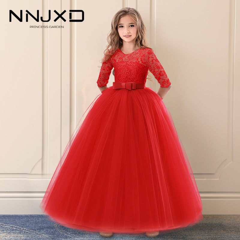 2PCS Kid Girls Christmas Dress+Tutu Skirt Set Pageant Puffy Tulle Ball Gown Princess Formal Dress Child for Girl 1-6Y