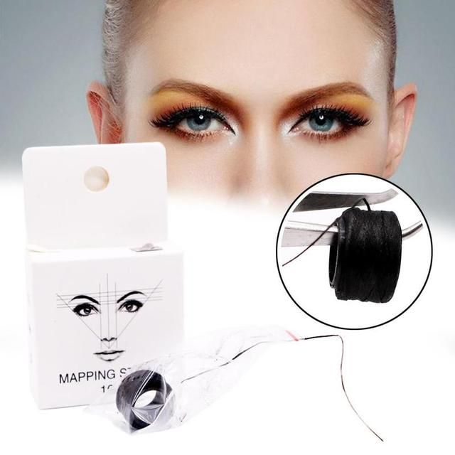 10m Brow Line String Pre-inked Eyebrow Marker Thread Tattoo Brows Point For Mapping New Microblading Eyebrow Marker 3