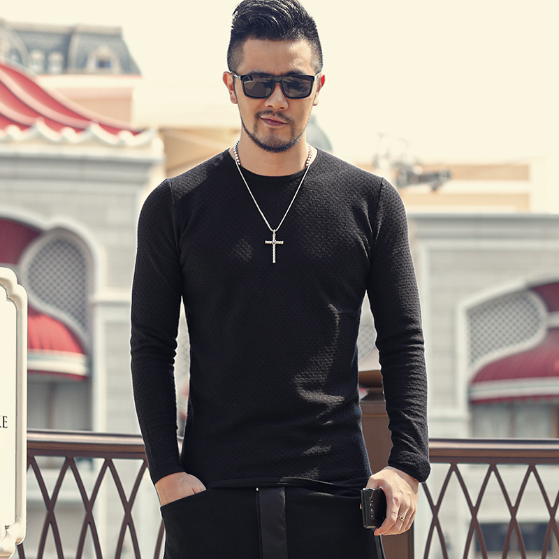 Winter Sweaters Men Pullovers Knitwear Man Casual Crew Neck Knitted Sweaters Solid Slim Fit Mens Pullovers J818