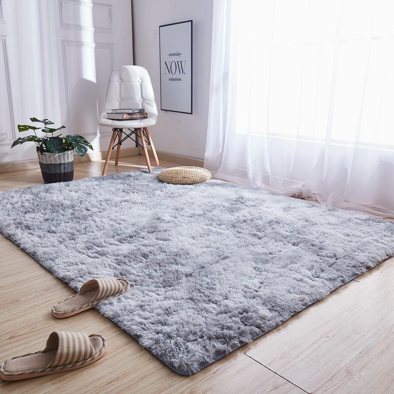 Motley Plush Fluffy Carpets For Living Room Soft Shaggy Rug Home Large Carpet Bedroom Sofa Hallway Corridor Rugs Floor Sofa Mat