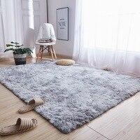 Motley pluszowe puszyste dywany dla pokoju gościnnego miękka kudłata dywan domu duży dywan sypialnia Sofa korytarz korytarz dywany Sofa podłogowa mata w Dywany od Dom i ogród na