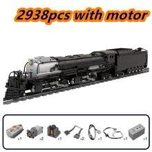 Bloco conjunto de trem união pacífico alco RS-2 4014 transporte veículo grande ferroviário crianças crescimento splicing brinquedo presente modelo blocos construção