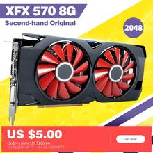 Xfx rx 570 8g 8GB256Bit GDDR5 utiliza tarjetas de gráficos RX570 rx 570 8 gb видеокарты для пк 4 гб rx 570 8 rx 470 4 rx 570 rx 580