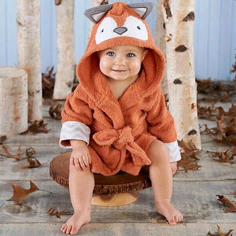 Flannel Baby Bathrobe New Style Fashion Children Tracksuit Men And Women Children Cute Panda Cartoon Women's Robes