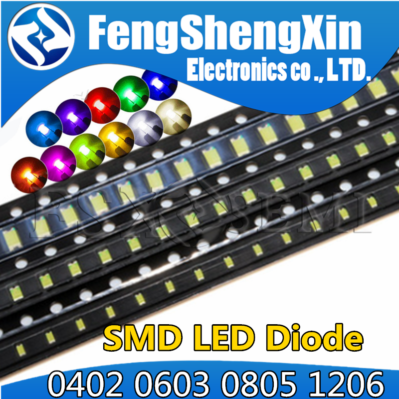 Diode-Set Emitting-Diode Smd Led 0402 White Blue Green 1206 0805 3528 0603 Light Yellow