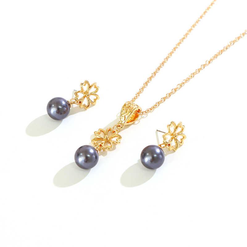 Say Hello hawaje polinezja styl japońskie słowa naszyjnik zestaw kolczyków dla kobiet kobieta nowy projekt Riman zestaw biżuterii Alakai K6099