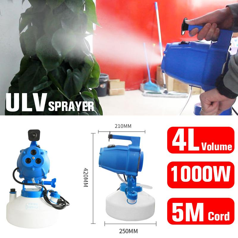 4L Capacity Electric ULV Fogger Sprayer Mosquito Killer Disinfection Machine Fight Drugs Distance Portable Spraying Tool