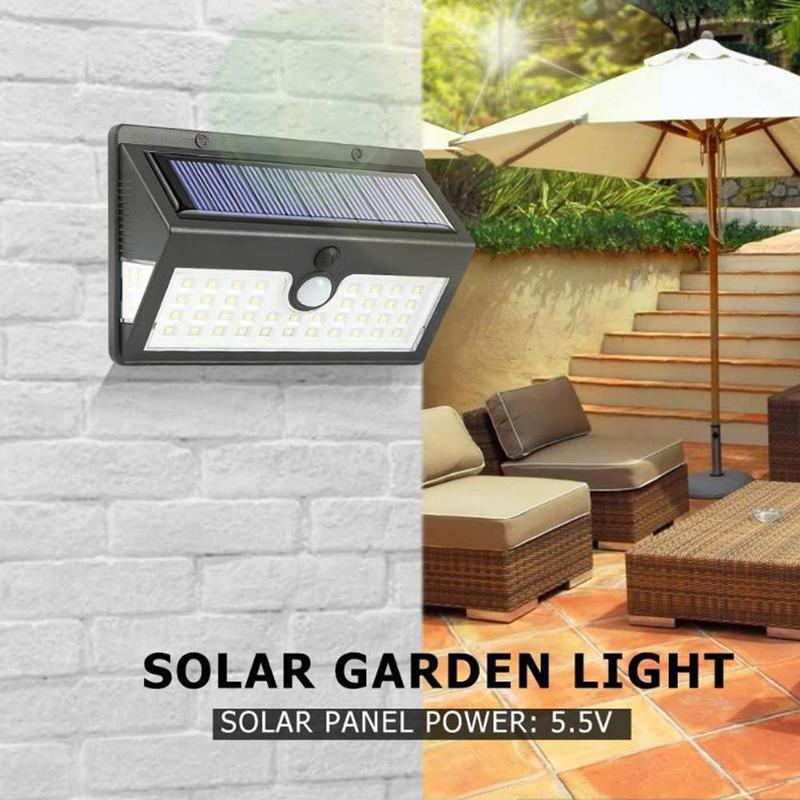 Solar Induction Wall Light Outdoors LED Solar Lamp 64 COB Emergency Light Outside Waterproof Wall Automatic Light Super Bright