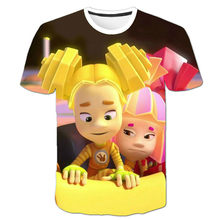 Niño niña camiseta de dibujos animados en 3D camiseta en espiral verano nuevo estilo 2021