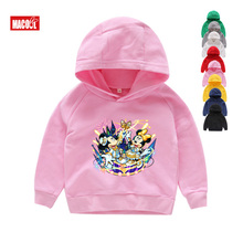 Kids Hoodies Funny Mickey Print Boy Girl Mouse Sweatshirts  2019 Children Leisure Pink 2T-8T
