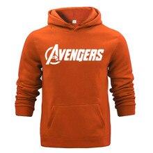 New Brand Men Long Sleeve Hoodies AVENGERS Letter Printed Casual Mens Fleece Fashion Hip Hop Hoody Sweatshirt