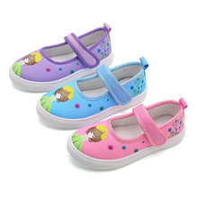 Cartoon printed Girls Canvas Shoes Kids Sneakers for Student School Casual Soft bottom 3T 4T 5T 6T-15T