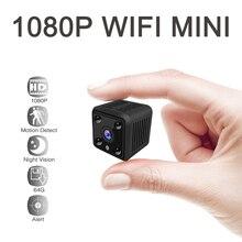 Mini câmera 1080p para vigilância residencial, ip sem fio hd ir visão noturna monitor de vídeo, pequena vigilância residencial