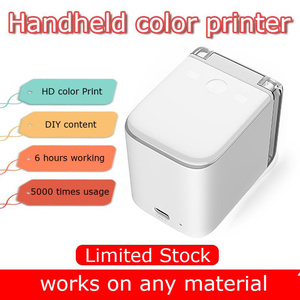 Printing Machine for Clothes T Shirt DIY Handheld Printer Portable Mini Full Color Inkjet Portable Portable Tattoo Printed Cup