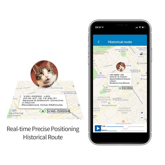Best Mini Cat GPS Tracker V47 Dog GPS Pet GSM Tracking Device Waterproof IP67 SOS Voice Monitor Two-way Talk Free APP 6