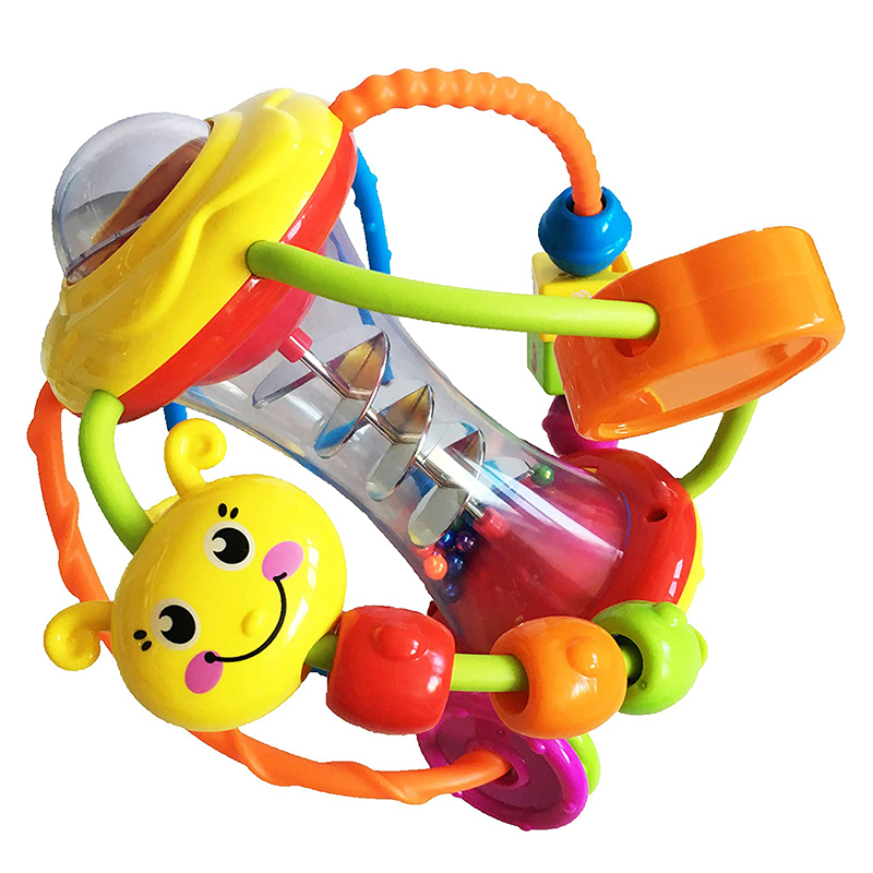 Interactive Ball Toy For Baby 6 Months Baby Rattle Clack And Slide Activity Ball Toys For Infants Early Learning Educational Toy