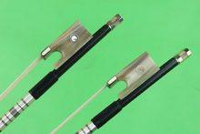 Hot venda nova grillwork preto fibra De Carbono arco de violino 4/4 tamanho completo chifre de Boi sapo Frete Grátis
