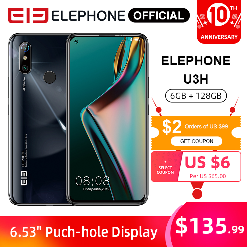 ELEPHONE U3H 6GB 128GB Helio P70 Octa Core Smartphone 6.53