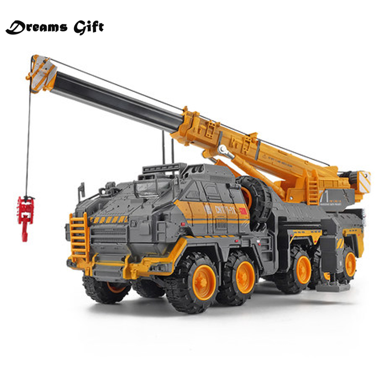 The Wandering Earth Mega Lifter Alloy Diecast Crane Truck Model Toy 1:120 Engineering Car Model Planetary Engine Flint Crane Toy