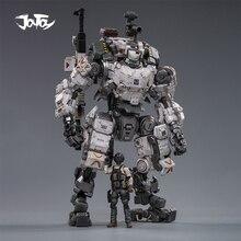 (2 sztuk/partia) JOYTOY 1/25 figurka robot wojskowy stalowy pancerz kości szary Mecha kolekcja klocki prezent na boże narodzenie