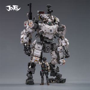 Image 1 - (2pcs/lot)JOYTOY 1/25 action figure robot Military Steel Bone Armor Gray Mecha Collection model toys Christmas present gift