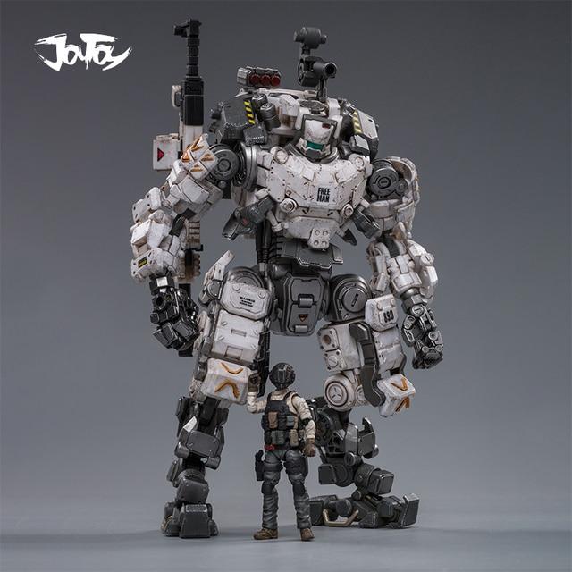 (2pcs/lot)JOYTOY 1/25 action figure robot Military Steel Bone Armor Gray Mecha Collection model toys Christmas present gift