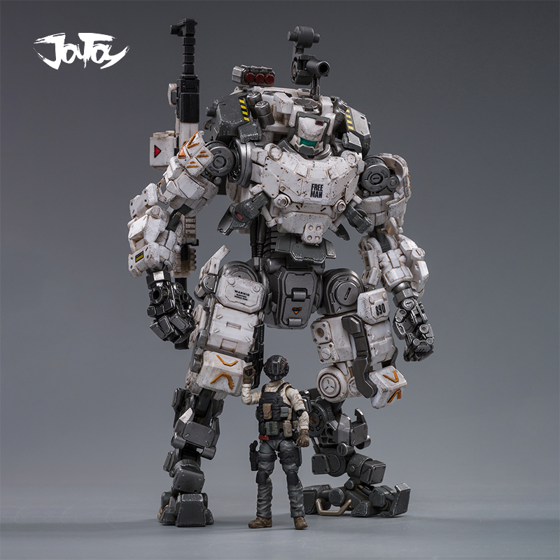 JOYTOY 1/25 Action Figure Robot Military Steel Bone Armor Gray Mecha Collection Model Toys Christmas Present Gift Free Shipping