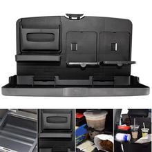Universal Foldable Car Table Multifunctional Car Cup Holder Backrest Food Car Tray Water Cup Phone Mount Car Pallet Shelf
