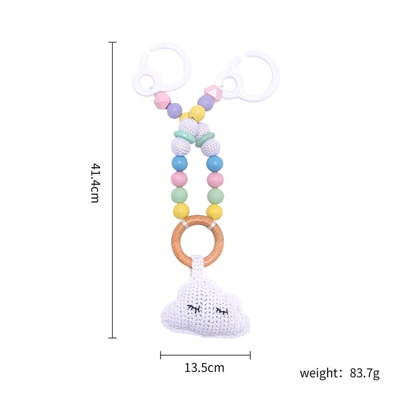 bebê móvel pram personalizar silicone grânulo nuvem