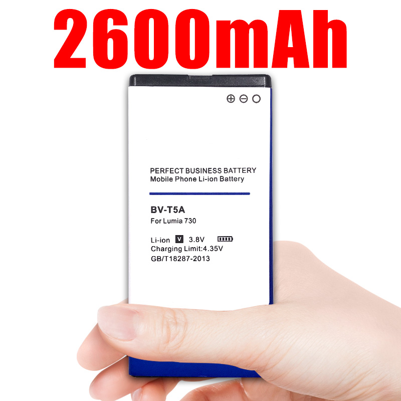 2600mAh BV-T5A BVT5A / BV T5A Replacement Battery for <font><b>Nokia</b></font> Lumia 730 735 738 Superman RM 1038 RM <font><b>1040</b></font> image