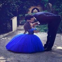Длинное платье принцессы «Золушка» для девочек в цветочек платья