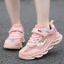 Mode Kinder Turnschuhe Mädchen Laufschuhe Atmungsaktive Hohl Net Sport Schuhe Slip on Kinder Casual Schuhe Licht Tenis Infantil