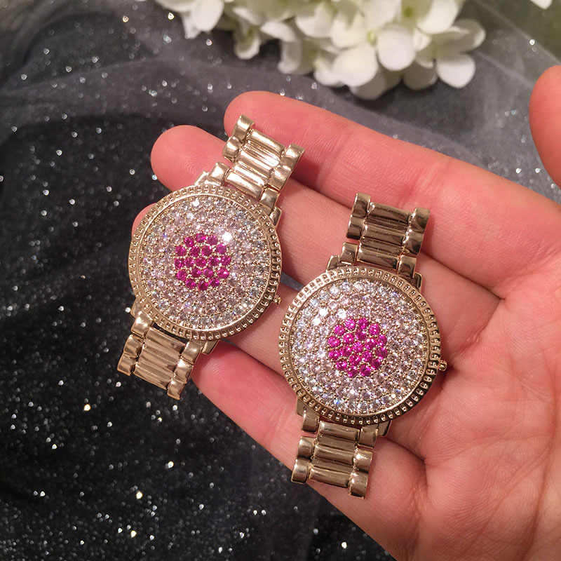 Dazz Brand Luxury Creative Watch Dangle Earring fashion Multicolor CZ Cubic Zircon Ladies Wedding Engagement Party Gold Earrings