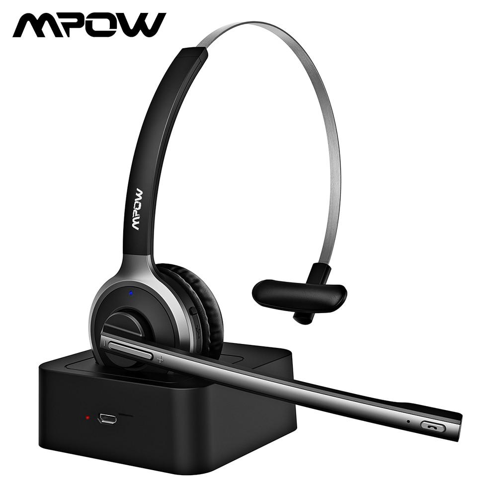 Mpow BH231 M5 Pro Bluetooth 5,0 наушники Беспроводной гарнитура с Шум подавление микрофоном хэндс-фри наушники для офиса на открытом воздухе