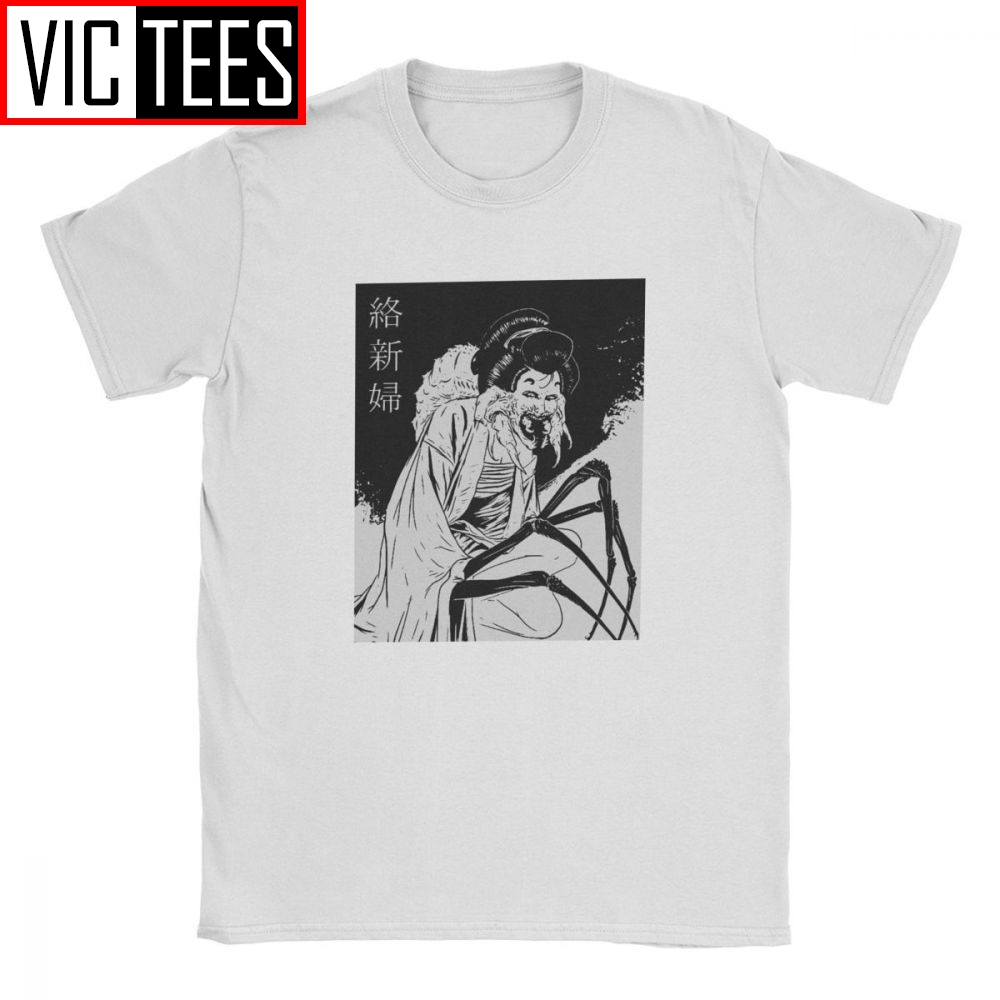Geisha Black Junji Ito T-Shirt For Men Japanese Kago Manga Horror Harajuku Cotton Tshirt New Arrival