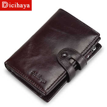 DICIHAYA Cow Leather Men Short Wallet Casual Genuine Leather Male Wallet Purse Standard Card Holders Wallets For Men Coin Bag - DISCOUNT ITEM  58% OFF All Category