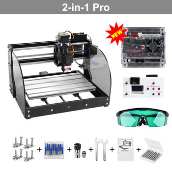 Laser Engraver Wood Router Engraver Upgrade CNC 3018 Pro-M Engraving Machine GRBL Control 3Axis PCB Machine  Offline Controller diy cnc 3018 pro max laser engraver 3 axis pcb milling machine wood router offline bakelite machine 15w module laser router